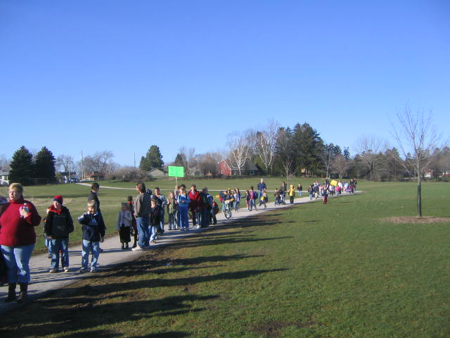 Children walking to school in Sheboygan