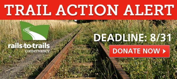 Trail Action Alert: Deadline 8/31 | Rails-to-Trails Conservancy
