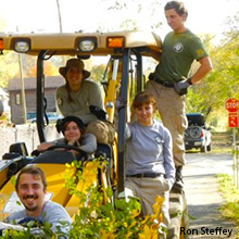 Americorps Volunteers on the Armstrong Trail (Rob Steffey)