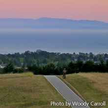Sunset, Bike Path at UCSC | Woody Carroll